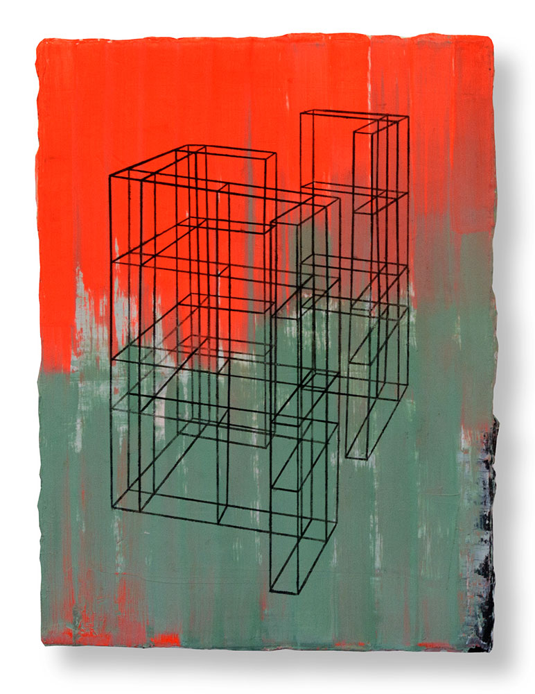 Roland Boden, Moirai_V, 40 x 30 cm, Öl/Lw ,2018